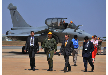Mr. Anil Ambani after flying sortie in Rafale at Aero India 2017