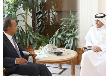 India's economic interests have no borders. Our Chairman meets Qatar PM & other leaders to explore co-operation